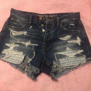 AE hi-rise shorts